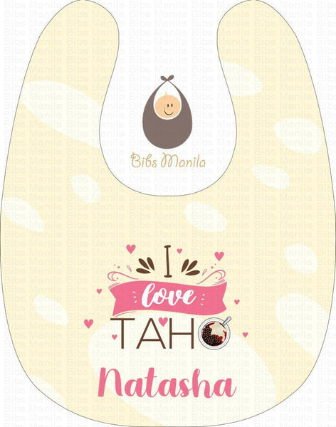 I love taho Personalized Baby Bib