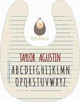 Learning Alphabet Bibs