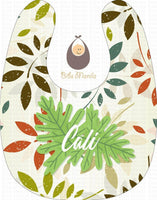 Big leaves Personalized Baby Bib