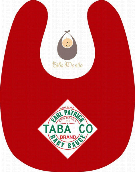 Red Pepper Spice Personalized Baby Bib