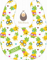 Pineapple Dance Bibs