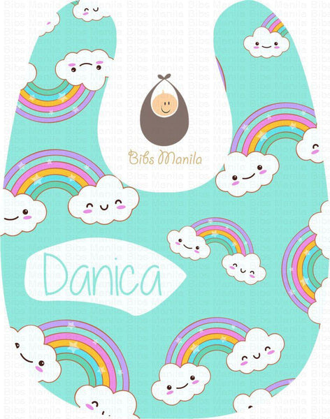 Rainbow Clouds Bibs
