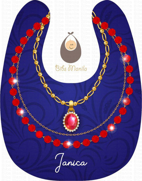 Ruby Necklace Bibs