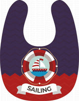 The Captain with Anchor Personalized Baby Bib