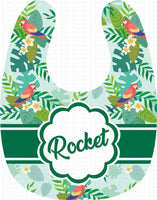 Tropical Paradise Green Personalized Baby Bib