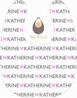What's in a name customizable Personalized Baby Bib