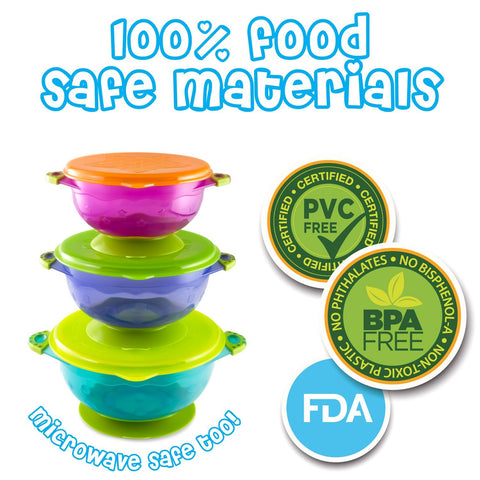 Image of Stay Put Suction Baby Bowl Sets - 3Pcs
