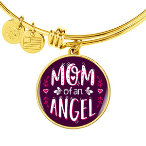 Mom of an Angel - 18K Gold Bangle