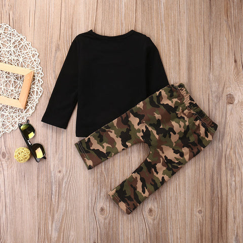 Camouflage Top and Pants Set