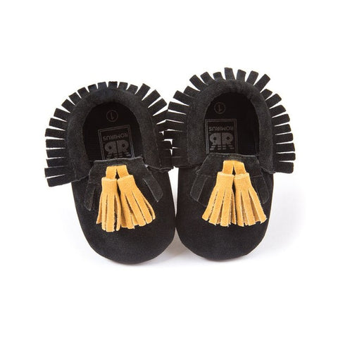 Image of Baby Leather Moccasins with Tassels
