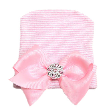 Image of Pink Bow Beanie