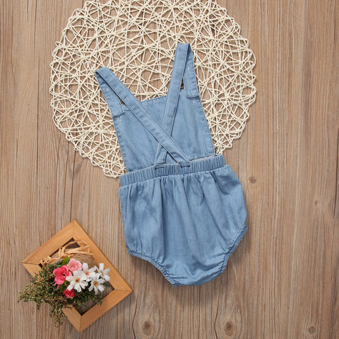 Image of Denim Baby Girl Bodysuit