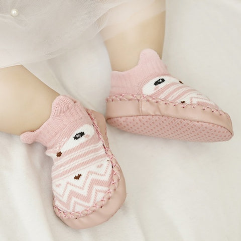 Image of Baby & Toddler Non-slip Moccasin Slipper Socks