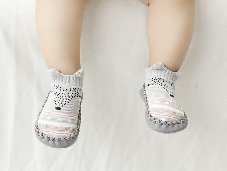 Baby & Toddler Non-slip Moccasin Slipper Socks