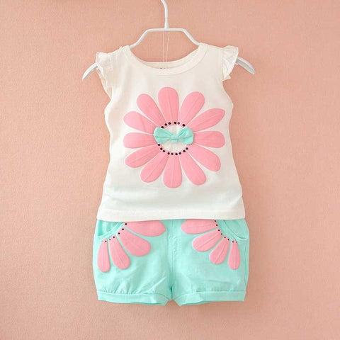 Image of 2-Piece Girls Summer Outfit