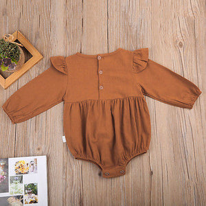One-piece Long-Sleeved Cotton Romper