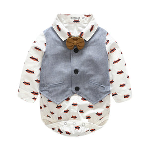 3-piece Baby Boy Bodysuit, Vest & Pants Set