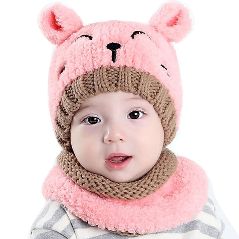 Image of Baby Scarf and Bonnet Set