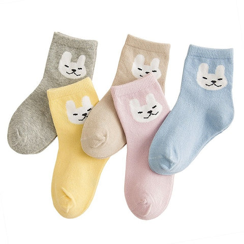 Image of 5-Pack Cute Cartoon Socks for Boys & Girls