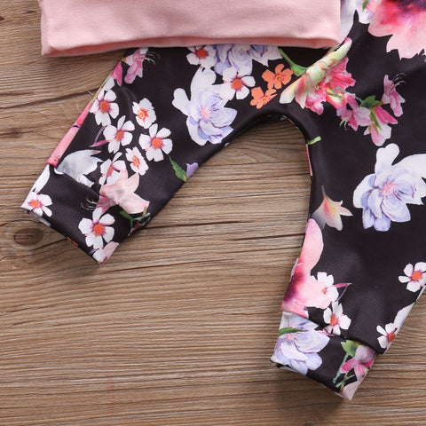 Floral Lined Hoodie Top & Pants Set