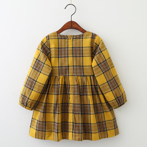 Image of Long Sleeve Plaid Dress
