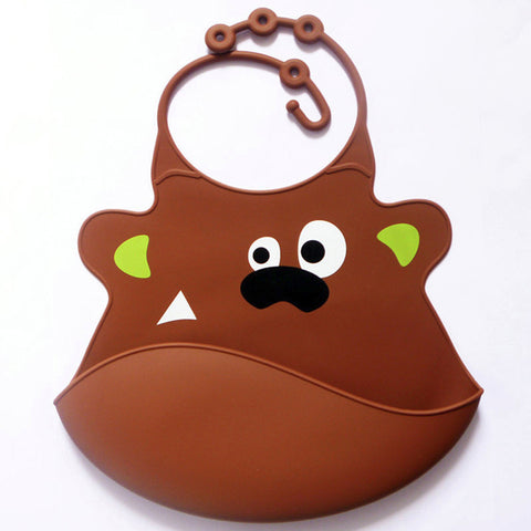 Image of Animal Waterproof Silicone Bibs