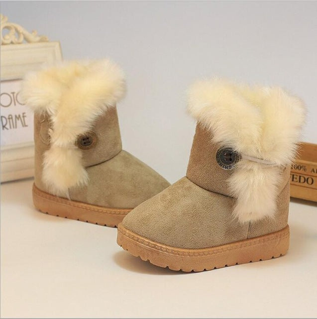 Suede Winter Baby Boots