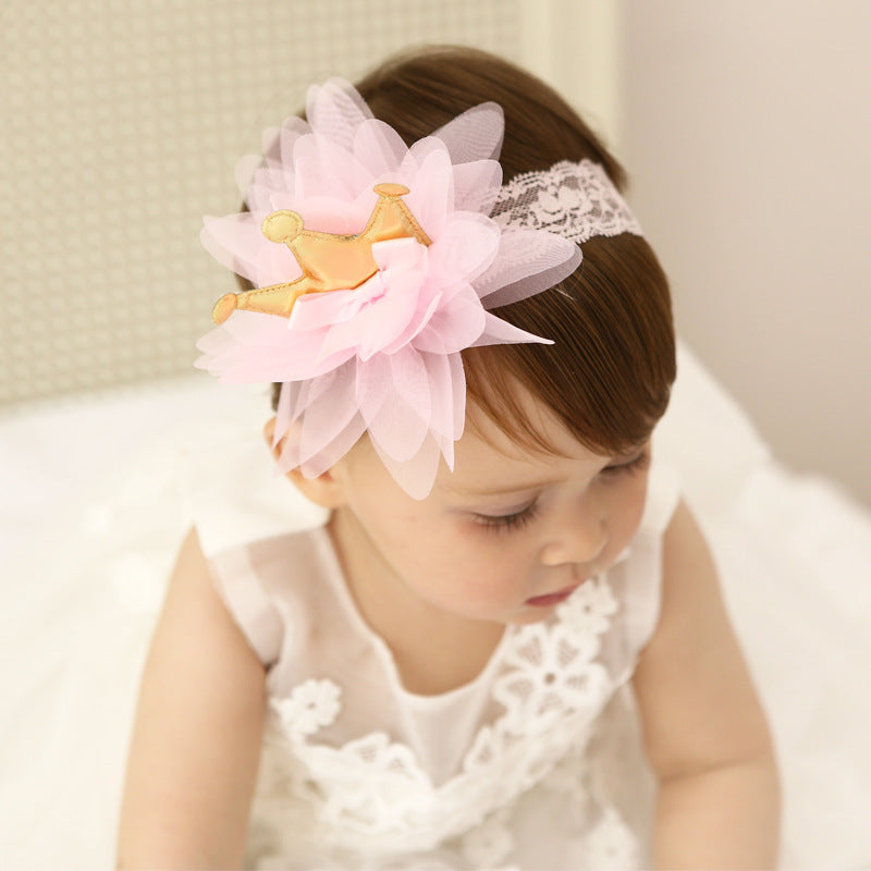 Crown Tulle Headband