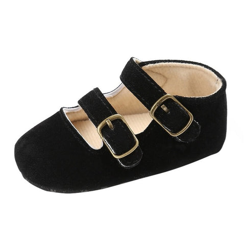 Image of Soft Sole Baby Girl Faux Suede Shoes