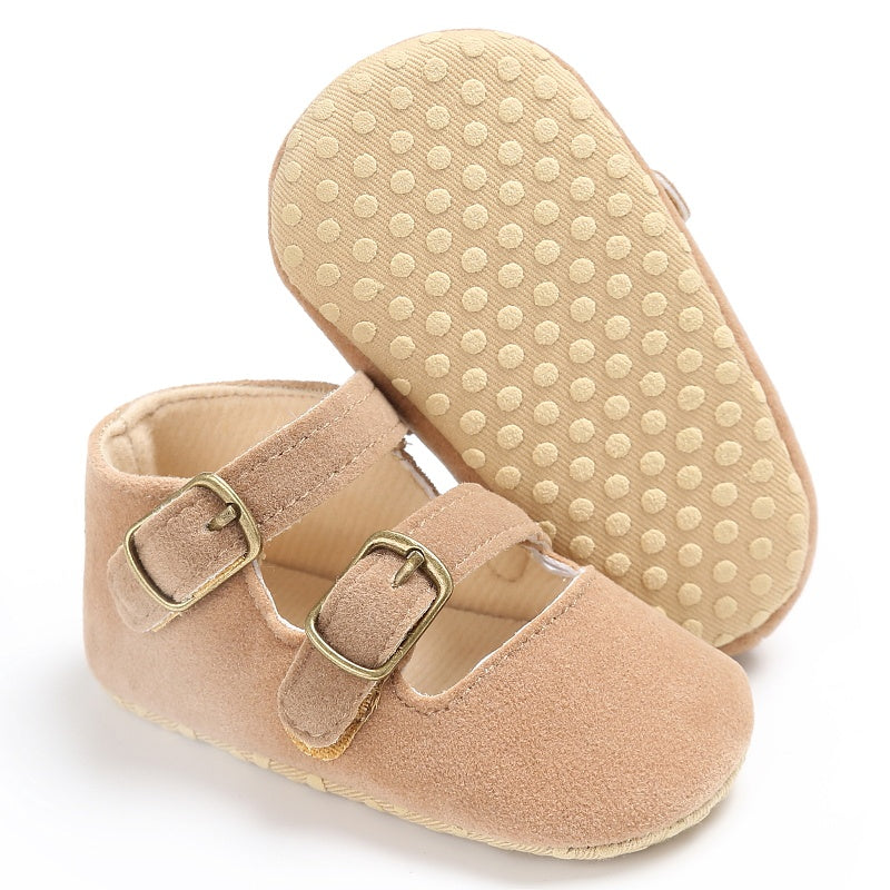 Soft Sole Baby Girl Faux Suede Shoes