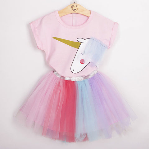 Image of Unicorn Top and Tutu Skirt Set