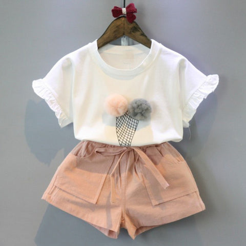 Image of Ice Cream Blouse and Shorts Set
