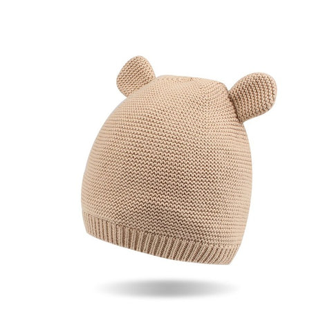 Image of Soft Knitted Beanie with Ears