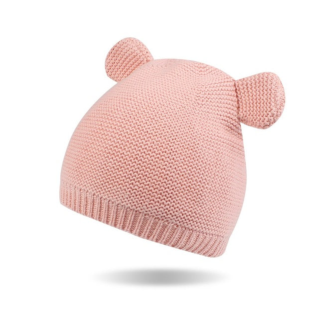 Soft Knitted Beanie with Ears