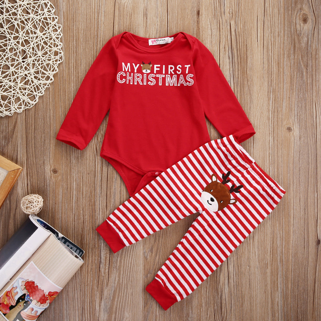 Cotton Romper & Pants Set