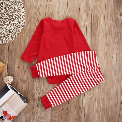 Image of Cotton Romper & Pants Set