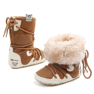 Soft Sole Lace-Up Snow Boots