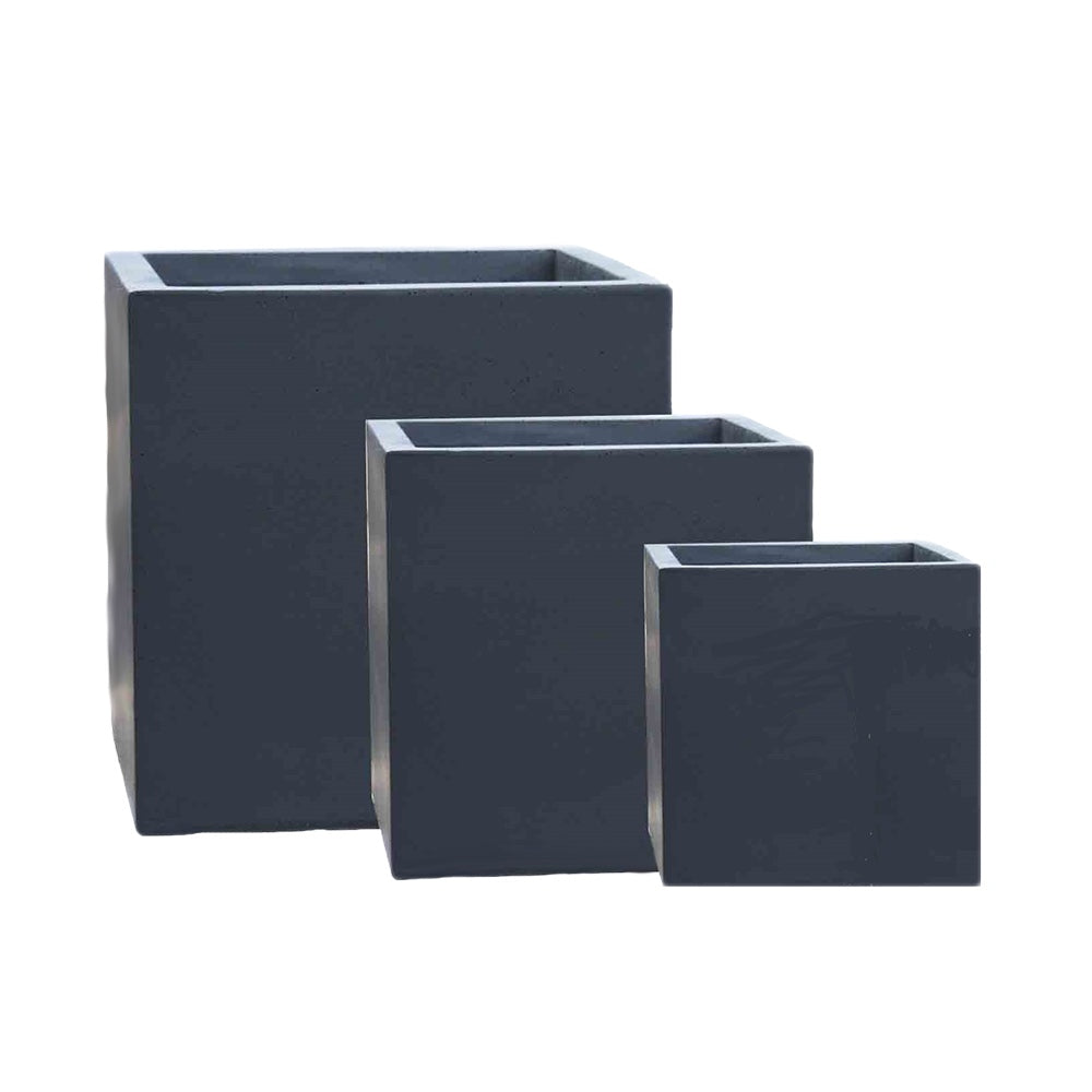 Black Solid Plant Box – Tall