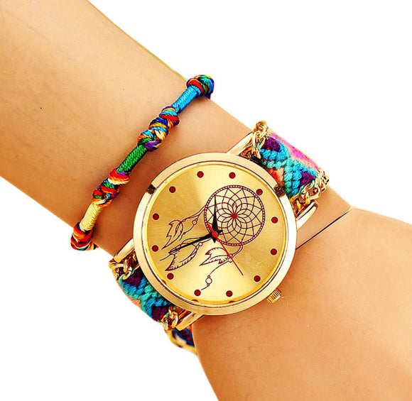Trendy watches with strap from thread