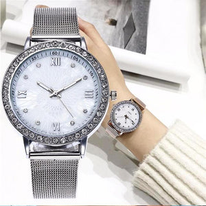 Casual watches with crystals Two colors