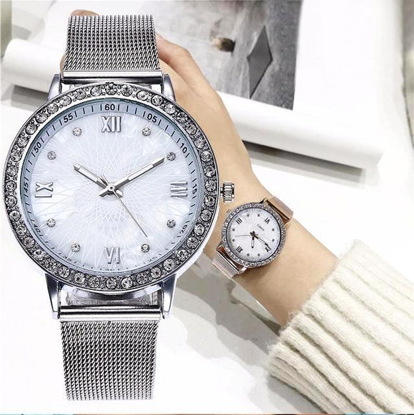 Lxury Gold Watch Women Watch Ladies Fashion Dress Quartz Watch