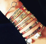 Trendy bangles with different phrases