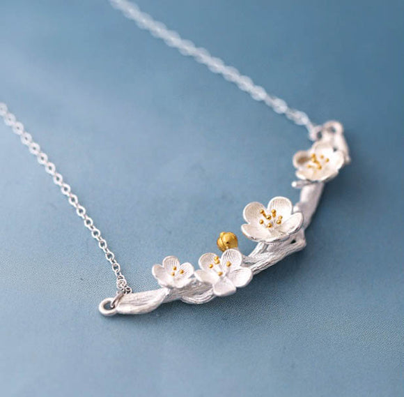 Cherry blossom tree necklace