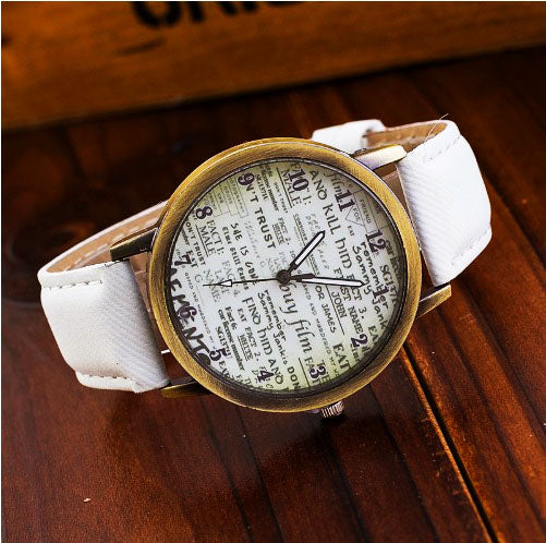 Casual denim fabric style watches