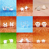 Different style cute small stud earrings