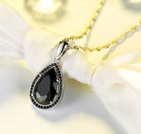 Water drop necklace with austrian cubic zircon