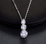Clear cubic zirconia pendant necklace