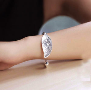 Bracelet Bangle Valentine's Day Gift Sterling Silver Women Bracelet Vintage Style Adjustable Leaf Feather Bangle  Search on ebaySearch on Walmart ASIN: B07L5TJMFS #371,639  in arts, crafts & sewing Product information/details