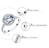 Engagement Ring paved 36pcs of austrian zircon