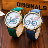 Casual bicycle pattern watches